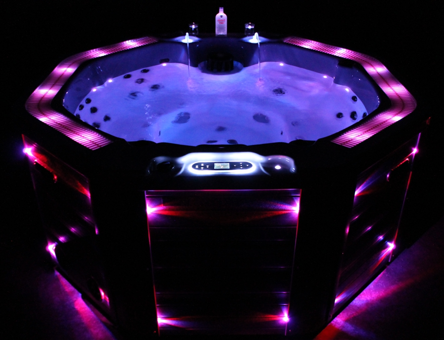 king spa whirlpool hot tub outdoor indoor whirlpools w 219 rund 8eck balboa 6 7p ebay. Black Bedroom Furniture Sets. Home Design Ideas