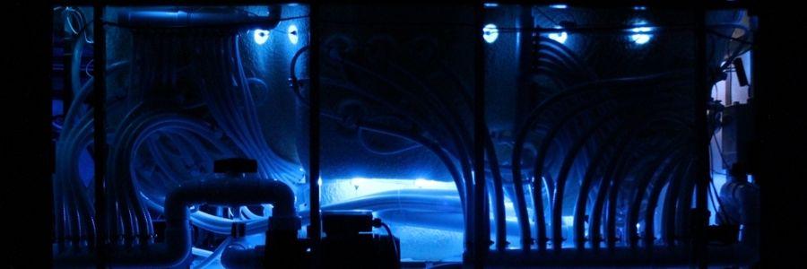 Innenansicht Innenleben Whirlpool beleuchtet
