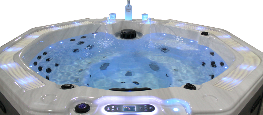 Indoor whirlpool rund  Whirlpool Outdoor Badewanne Außenwhirlpool kaufen W-219,8 Eckig ...